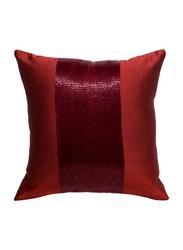 OraOnline Patch Red Decorative Cushion/Pillow, 40x40 cm
