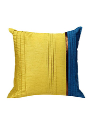 OraOnline Milano Blue/Yellow Decorative Cushion/Pillow, 40x40 cm