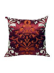 OraOnline Persia Maroon Decorative Cushion/Pillow, 40x40 cm