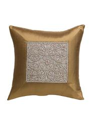 OraOnline Elite Chickoo Decorative Cushion/Pillow, 40x40 cm