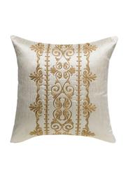 OraOnline Iris Off White Decorative Cushion/Pillow, 40x40 cm