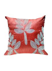OraOnline Leaf Pink Decorative Cushion/Pillow, 40x40 cm