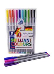 Staedtler Brilliant Colour Pen Set, 10 Pieces, Multicolour