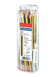 Staedtler Noris Graphite HB 2 Pencils with Eraser and Sharpener Set, 25 Pieces, Yellow/Black