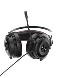 Ajazz The One E-sport Stereo Over-Ear Noise Cancelling Gaming Headphones with Mic, Black