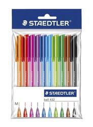 Staedtler 432 Ballpoint Color Pen Set, 10 Pieces, Multicolour