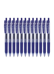Zebra 12-Piece Sarasa Clip Gel-Ink Pen Set, Blue