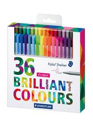 Staedtler Triplus Fibre Tip Colored Pen Set, 36 Pieces, Multicolour
