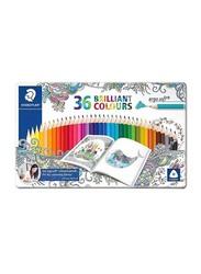 Staedtler 36-Piece Brilliant Wooden Color Pencil Set, ST5, Multicolour