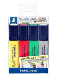 Staedtler Textsurfer Classic Highlighter Set, ST-364-CWP4X, 4-Piece, Multicolour