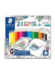 Staedtler 24-Piece Ergosoft Brilliant Color Pencil Set, ST-157-M24JB, Multicolour