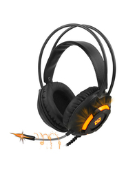 Ajazz AX120 Over-Ear Noise Cancelling Gaming Headphones with Mic, Black