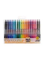 Zebra 20-Piece Sarasa Clip Gel Ink Roller Ball Pen Set, Multicolour