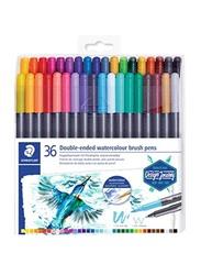 Staedtler Double Ended Watercolour Brush Pen Set, 36-Piece, Multicolour