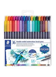 Staedtler 36-Piece Double Ended Watercolour Brush Pen Set, Multicolour