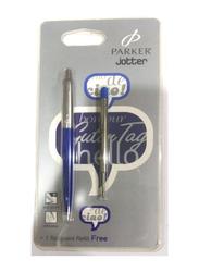Parker Jotter Ballpoint Pen with Refill, Blue/Silver