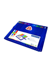 Staedtler Ergo Soft Triangular Color Pencil Set, 24 Pieces, Multicolour