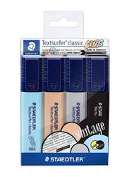 Staedtler Vintage Textliner Highlighter Set, 4-Piece, Multicolour