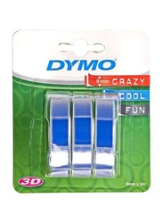 Dymo 3D Embossing Label Tape Set, 3 Pieces, Black