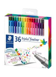 Staedtler Triplus Fineliner Pen Set, 36 Pieces, Multicolour