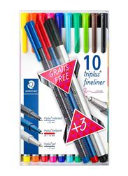 Staedtler Triplus Fineliner Pen Set, 13 Pieces, Multicolour