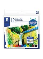 Staedtler Watercolour Crayons Set, 12-Piece, Multicolour