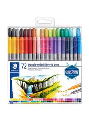 Staedtler 72-Piece Double-End Fibre-Tip Pen Set, Multicolour
