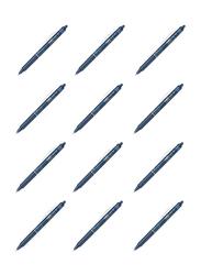 Pilot 12-Piece FriXion Clicker Medium Tip Rollerball Pen Set, Blue