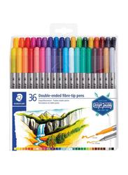 Staedtler 36-Piece Double-End Fibre-Tip Pen Set, Multicolour