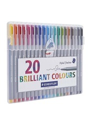 Staedtler Ink-Flow Fineliner Pen Set, 20-Piece, Multicolour