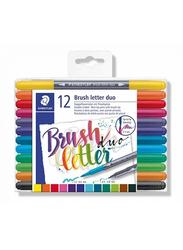 Staedtler Brush Letter Duo Pen Set, 12-Piece, Multicolour
