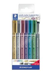 Staedtler Metallic Marker and Pigment Liner Set, 26-Piece, Multicolour