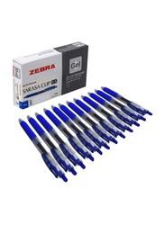 Zebra 12-Piece Sarasa Clip Dry Ink Pen Set, Blue