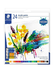 Staedtler Acrylic Watercolour Set, 24 x 12ml, Multicolour