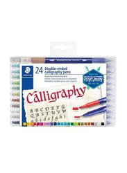 Staedtler Double Ended Calligraphy Color Pen Set, 24 Pieces, Multicolour
