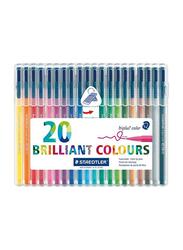 Staedtler Triplus Fibre Tip Colored Pen Set, 20 Pieces, Multicolour