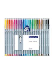 Staedtler Triplus Fineliner Pen Set, 0.3mm, 20 Pieces, Multicolour