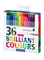 Staedtler 36-Piece Triplus Brilliant Colour Set, Multicolour
