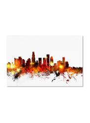 Trademark Fine Art Los Angeles California Skyline III Canvas Wall Art by Michael Tompsett, 16 x 24inch, Multicolour