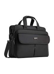 Eybf 15.6-inch Travel Briefcase Laptop Bag, Water Resistant, Black