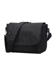 Marryking 14-inch Classic Canvas Messenger Laptop Bag, Black