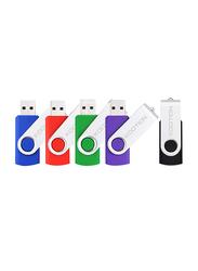Kootion 16GB USB 2.0 Flash Drives Thumb Drives Memory Stick, 5-Piece, Multicolour