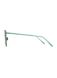 Merry's Full Rim Cat Eye Green Sunglasses for Women, Mirrored Green Lens, S8089, 56/19/138
