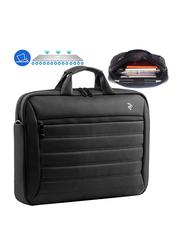 2E 15.6-inch Briefcase Messenger Laptop Bag, Black