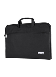 Mayetori 15.6-inch Briefcase Laptop Sleeve Bag for Notebook/Tablet/MacBook, Water Resistant, Black