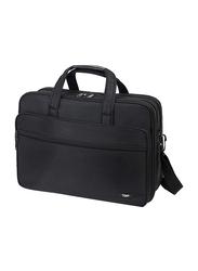 Tdaw 17-inch Travel Briefcase Messenger Laptop Bag, Water Resistant, Black