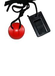 TreadmillPartsZone Treadmill Key with Round Magnetic Clip, 208603, Red/Black
