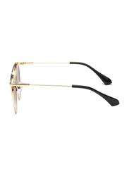 PrimaLuce Polarized Full Rim Aviator Sunglasses Women, Rose Gold Lens