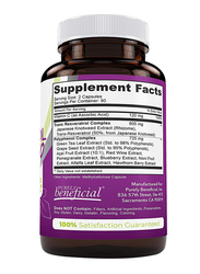 Purely Beneficial Resveratrol 1450 Dietary Supplement, 180 Capsules