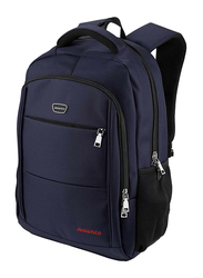 JINS & VICO 15.6-inch Polyester Backpack Laptop Bag, Water Resistant, Blue